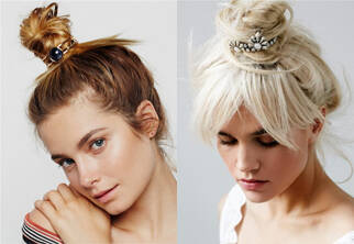 让丸子头变变样 买件别致的发饰就这么简单