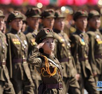 朝鲜建国70周年大阅兵现场