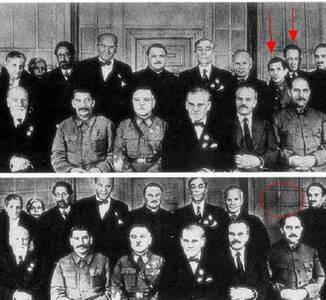 苏联时期被篡改的照片:那时候的PS这么强大