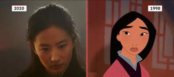 2020 vs 1998 迪士尼《花木兰》电影与动画镜头对比