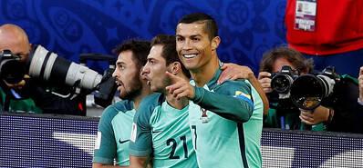 C罗头球破门 葡萄牙1-0俄罗斯