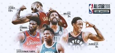 詹姆斯库里领衔NBA全明星酷炫宣传照
