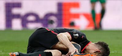 无缘世界杯!法国大将跟腱断裂表情痛苦