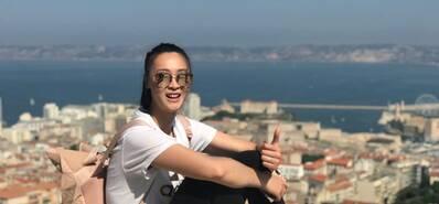 太美!惠若琪晒法国游玩照