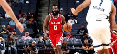 NBA季前赛-哈登23+6+6 火箭大胜灰熊