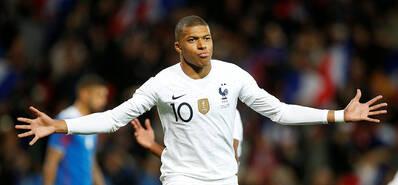 姆巴佩破门+造乌龙 法国2-2冰岛