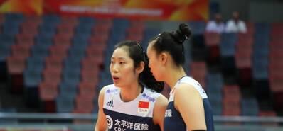 袁心玥17分中國女排3-0阿塞拜疆