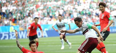 贝拉点射孙兴慜世界波 韩国1-2墨西哥