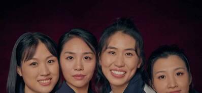 中国女排演员写真曝光 四朵金花太动人