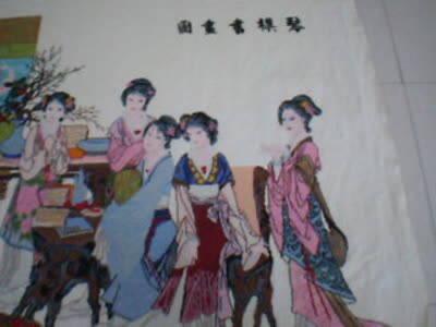 琴棋书画彩珠绣成品出售