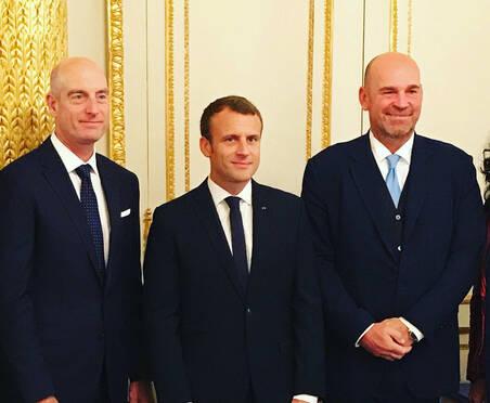 2018莱德杯巴黎宣传造势 法国总统接见双方队长