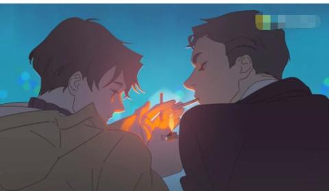《眨眼呼吸》小攻过度的瞬间心动了,韩国高分漫画笔握图片
