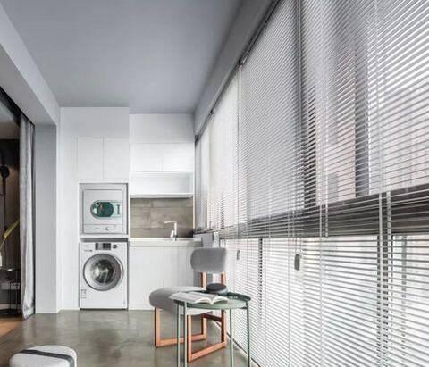 洗衣机放阳台怎么装修?19款装修效果图可供参考