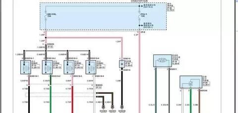 起亚k2原厂电路图 彩图