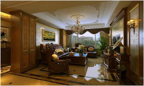 运用了护墙板,天然石材,软包造型等等来凸显欧式的精致和高贵.