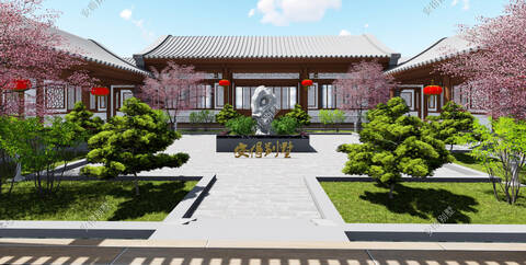 结构形式:砖混结构; 主体造价:38万~42万左右; 第八套:中式四合院
