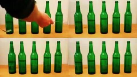 如何用筷子开啤酒瓶