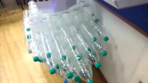 手工制作大全 如何用矿泉水瓶做彩灯图片