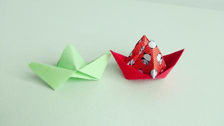 创意折纸,折个双心做礼物吧!