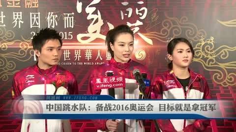 中国跳水队:备战2016奥运会 目标拿冠军