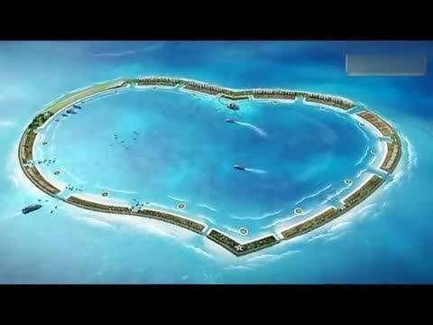 南沙群岛填海规划图南沙群岛填海 南沙群岛填海现状 ...