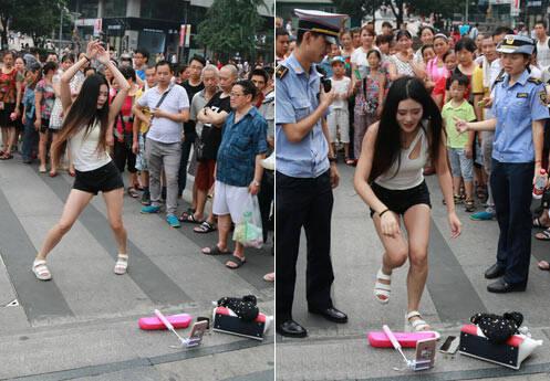 网络主播重庆闹市直播跳舞 招来城管被驱离
