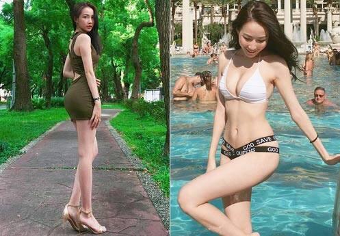 蜂腰美腿马甲线 台湾22岁女孩征服两岸三地