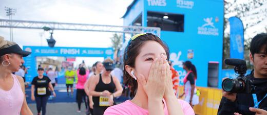 女神赵奕欢:完赛澳大利亚马拉松!人美跑得快!