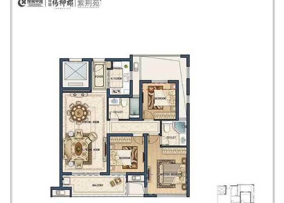 E4三室两厅两卫106㎡