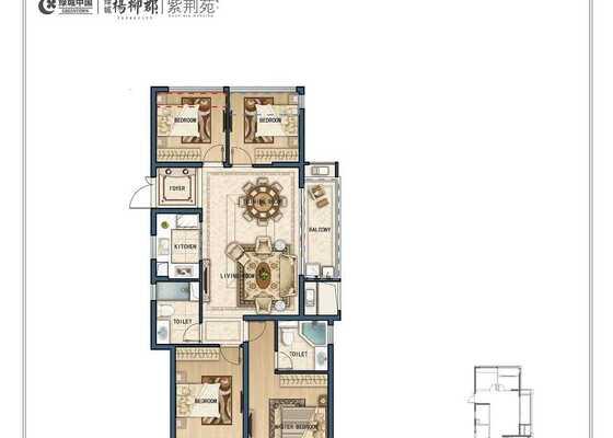 C9四室两厅两卫129㎡
