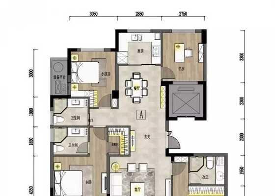 户型A建筑面积约139.15㎡