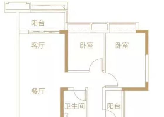 78平2+1房户型图