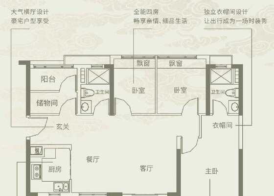 96㎡四房两厅两卫