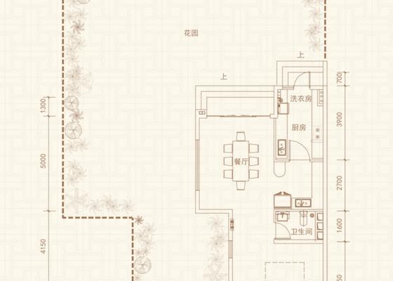 【别墅】联排B户型318-330㎡
