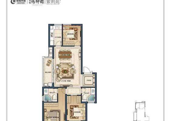 D3三室两厅两卫117㎡