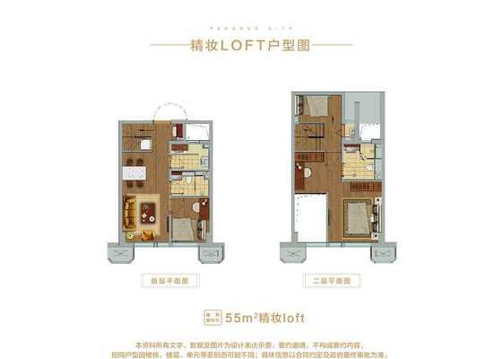 55平米loft