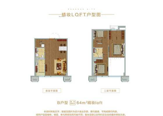 64平米loftB户型