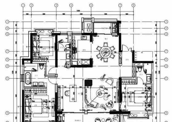 面积约189㎡四房两厅三卫
