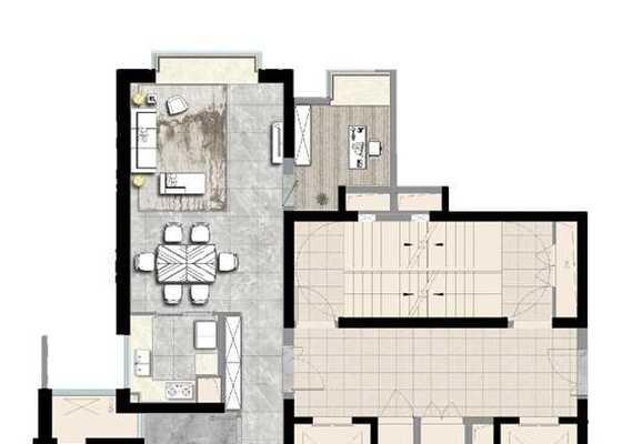 澜山户型建筑面积: 约165.00㎡