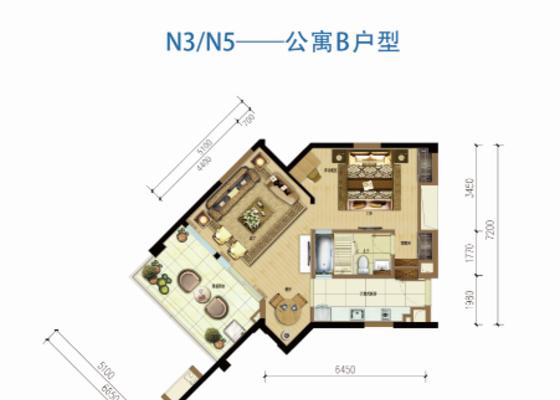 海境新天公寓B户型