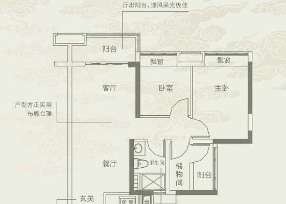 72㎡三房两厅一卫