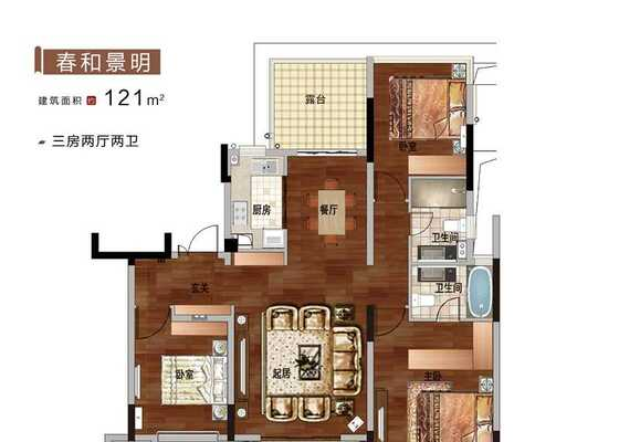 121平   洋房六层户型