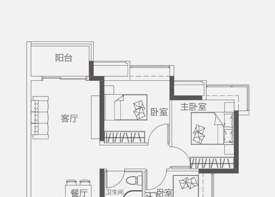 【洋房】90㎡三房一卫两厅