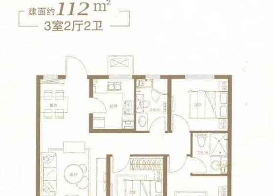 112平米三居