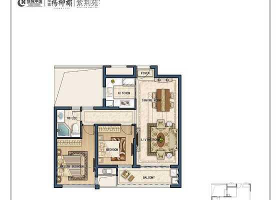 F2两室两厅一卫79㎡