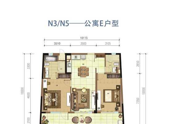 海境新天公寓E户型