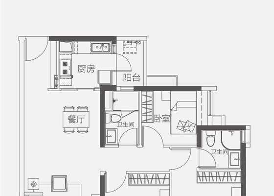 【洋房】110㎡三房两卫两厅