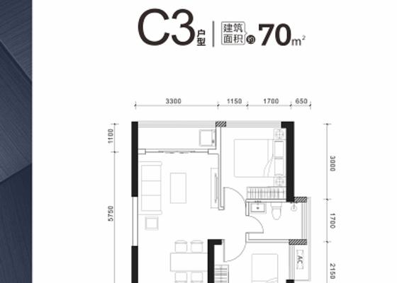 70㎡ C3户型