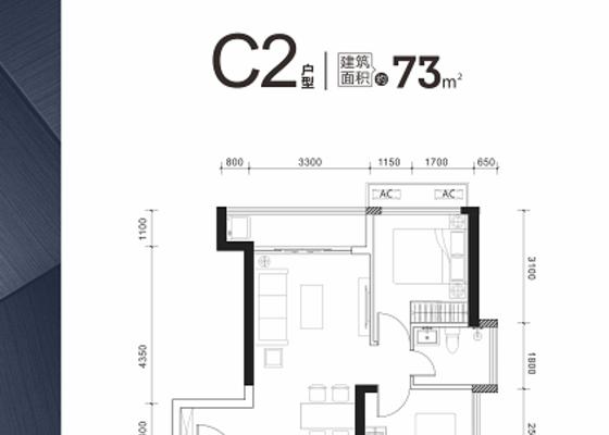73㎡ C2户型