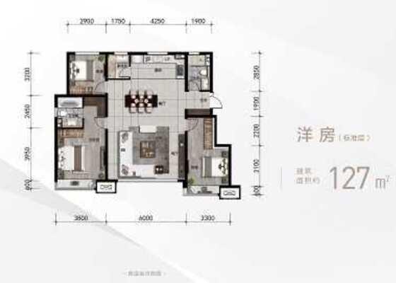 洋房标准层127平